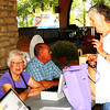 Debbie Blank | The Herald-Tribune<br /> The Batesville Beautification League was one of many nonprofits at the Kiwanis Club of Batesville Applefest Sept. 23-24 at Liberty Park. Members (from left) Ruth Monaco, Jeanne Siefert and Dave Record were selling raffle tickets and chatting with Katie Mollaun Hegwood.