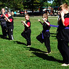 Debbie Blank | The Herald-Tribune<br /> A Southeastern Indiana YMCA instructor and his tae kwon do students wear matching black uniforms.