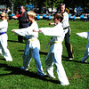 Debbie Blank | The Herald-Tribune<br /> Three Southeastern Indiana YMCA instructors and their students demonstrated tae kwon do moves in a grassy area midday Saturday.
