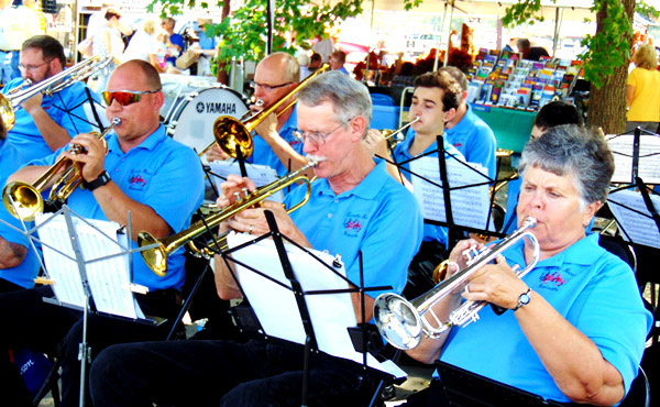 About 15 members of Batesville's Eureka Band, among the oldest continuous all-volunteer groups in the U.S., entertained early Saturday afternoon.