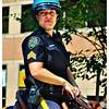 Officer on horseback.