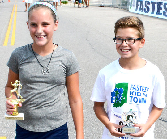 Christopher Aune | The Herald-Tribune<br /> The fastest girl and boy in Batesville were