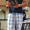 Diane Raver | The Herald-Tribune<br /> Eduardo Carranza from El Toro's holds the plaque he received by placing first in the chef's division of the Salsa Cook-off.