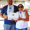 Diane Raver | The Herald-Tribune <br /> Eric Kasch, North Carolina, and his mom, Bette Brody, Maryland, won the Corn on the Cob Eating Contest.