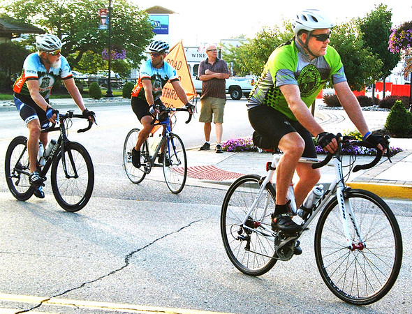 Debbie Blank | The Herald-Tribune<br /> Cyclists departed from downtown Batesville around 8 a.m.