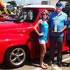 Photo courtesy of Batesville Area Chamber of Commerce<br /> The 2018 Chamber Classic Car Cruise-In People's Choice Award went to Mike (center) and Gayla Vonderheide, Batesville, for their 1955 Ford F-100. Presenting the trophy are chamber executive director Anna Ibold (left) and office coordinator Ali Hountz.