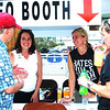 Debbie Blank | The Herald-Tribune<br /> Batesville Bash volunteers (from left) Bill Blank, Tina Longstreth, Molly Freeland and Sarah Lamping chat midday.
