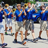 Debbie Blank | The Herald-Tribune<br /> Batesville High School band students took time out of their summer breaks to entertain the Summerfest parade crowd Saturday at 2 p.m.