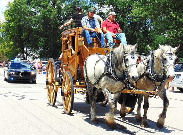 Debbie Blank | The Herald-Tribune<br /> Majestic horses were the parade's grand finale.