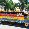 "Debbie Blank | The Herald-Tribune<br /> ""Let's Party at Freudenfest"" sang the FNF Band at the Batesville Fire-Rescue Summerfest Parade July 8."