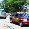 Debbie Blank | The Herald-Tribune<br /> Eagle Fire Co., Oldenburg, volunteers brought first responder and fire vehicles to the procession.