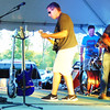 "Debbie Blank | The Herald-Tribune<br /> Five Lights played a variety of tunes Saturday, including Tom Petty and the Heartbreakers' ""Mary Jane's Last Dance,"" Third Eye Blind's ""Semi-Charmed Life"" and The Animals' ""House of the Rising Sun."""