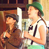 "Debbie Blank | The Herald-Tribune<br /> These two young ladies did a terrific job portraying the lead characters in ""The Adventures of Frog and Toad,"" which kicked off Thursday entertainment at Liberty Park."