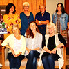 Debbie Blank | The Herald-Tribune<br /> Winners (seated from left) Nancy Derheimer, Amy Lesneski, Rebecca Davies; (stand from second from left) Emili Uden, Judy Glore, Paul Borchelt and Olivia Harms were flanked by Batesville Area Arts Council Community Art Show coordinator Judy Meyer (left) and BAAC executive director Sarah Heppner.