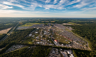 Aerials during the Bonnaroo Music and Arts Festival 2016 in Manchester TN.
