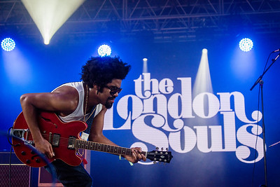 Tash Neal of The London Souls perform during the Bonnaroo Music and Arts Festival 2016 in Manchester TN.