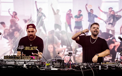 L-R, Luke Dubber and Angus Stuart of Hermitude performs during the Bonnaroo Music and Arts Festival 2016 in Manchester TN.