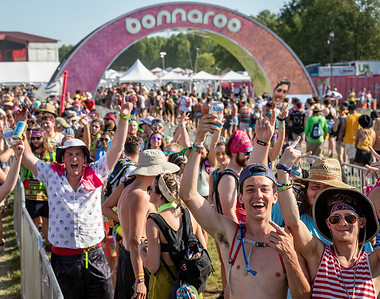 The Bonnaroo Arch at the Bonnaroo Music and Arts Festival 2018 in Manchester TN