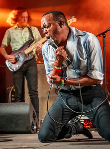Durand Jones and the Indications perform during the Bonnaroo Music and Arts Festival 2018 in Manchester TN