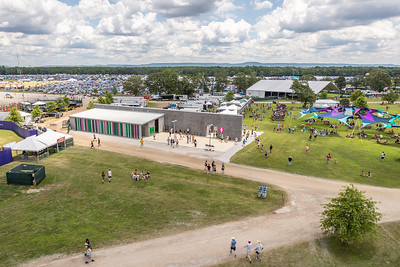 Aerial shots from the ferris wheel at Bonnaroo Music and Arts Festival 2019 in Manchester TN