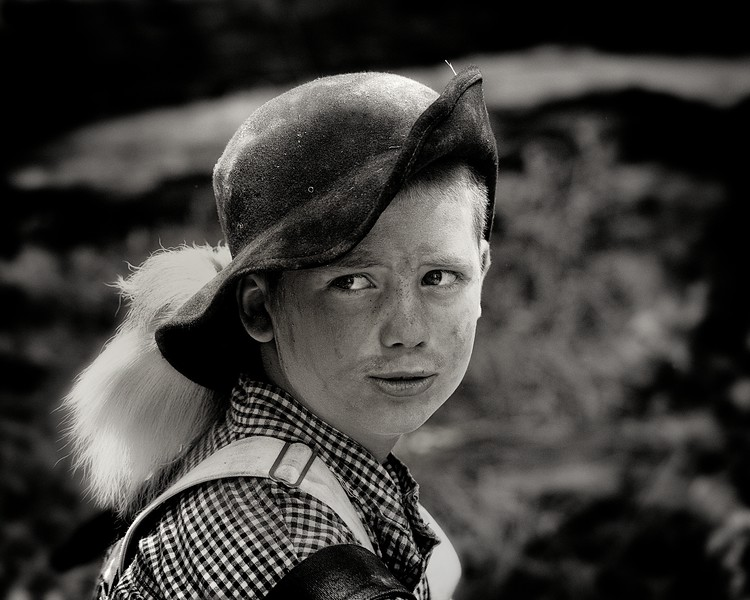 Boy with Foxtail Hat