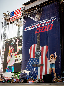 Jennifer Nettles performs during the Country 500 Music Festival 2016 at the Daytona International Speedway in Daytona Beach Florida.