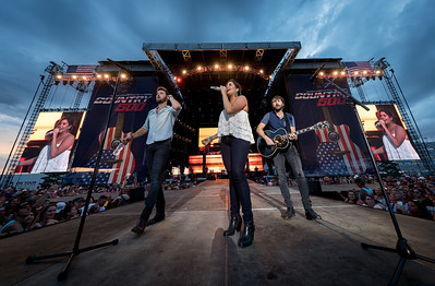 Lady Antebellum performs during the Country 500 Music Festival 2016 at the Daytona International Speedway in Daytona Beach Florida.