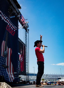 Craig Campbell performs during the Country 500 Music Festival 2016 at the Daytona International Speedway in Daytona Beach Florida.