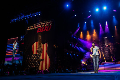 Luke Bryan performs during the Country 500 Music Festival 2016 at the Daytona International Speedway in Daytona Beach Florida.
