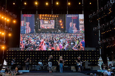 Little Big Town performs during the Country 500 Music Festival 2016 at the Daytona International Speedway in Daytona Beach Florida.