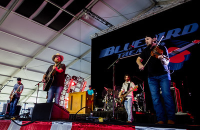 The Randy Rogers Band performs during the Country 500 Music Festival 2016 at the Daytona International Speedway in Daytona Beach Florida.