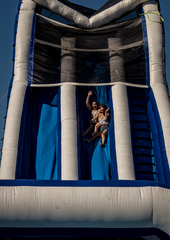 Water Slide durnig the Country 500 at Daytona International Speedway in Daytona Florida
