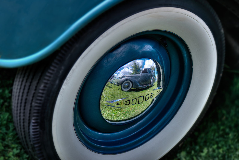 1930s Dodge Hub Cap Reflection