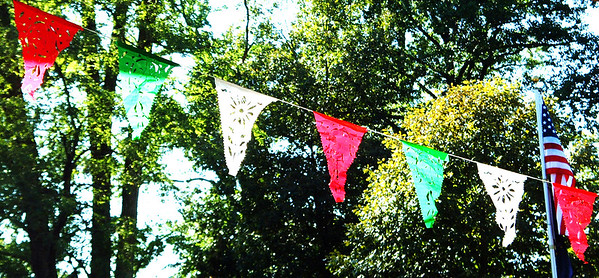 Debbie Blank | The Herald-Tribune<br /> The flag of Mexico is a vertical tricolor of green, white and red so these are perfect colors for fest decorations.