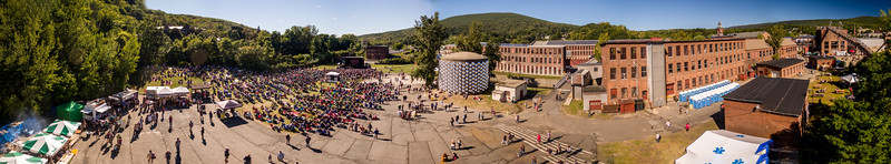 Aerial Drone images during the FreshGrass Bluegrass Festival 2015 at MASS MoCA in North Adams, Massachusetts, on September 18-20, 2015