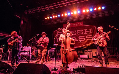 Frank Solivan and Dirty Kitchen performs during the FreshGrass Festival 2016 at Mass MoCA in North Adams Ma.