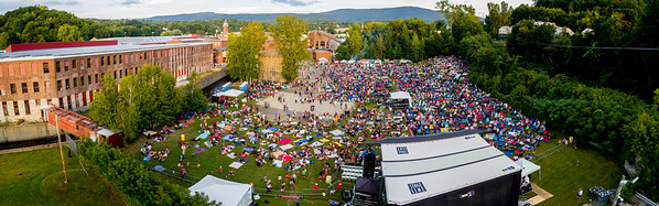 Aerial drone images taken during the FreshGrass Festival 2016 at MASS MoCA in North Adams, Massachusetts, on September 16-18, 2016