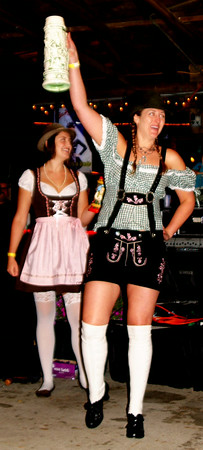 Debbie Blank | The Herald-Tribune Divas in Dirndls got the party started Friday night at Freudenfest.