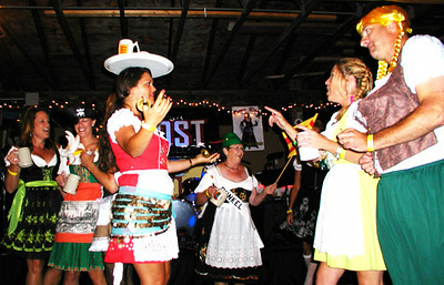 Debbie Blank | The Herald-Tribune<br /> The Divas in Dirndls eventual winner showed her skill at balancing a beer mug on her head.