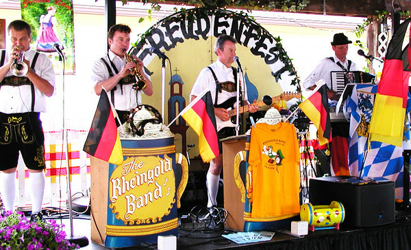 Debbie Blank | The Herald-Tribune<br /> The Rheingold Band played at noon and 8 p.m. Saturday on the shelterhouse stage.