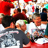 Debbie Blank | The Herald-Tribune<br /> Tables scattered throughout the festival grounds are conducive not just for eating and drinking, but sitting awhile to catch up with old friends.