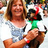 Debbie Blank | The Herald-Tribune<br /> While Bunny, 8, may not have been the fastest dachshund Saturday, she probably got the best dressed award. The owner is Debbie Schaefer, Holton.