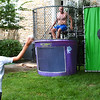 Diane Raver | The Herald-Tribune<br /> Aaron Garrett, Batesville High School basketball coach, took his turn in the dunk tank.