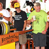 Debbie Blank | The Herald-Tribune<br /> Oldenburg folks make a toast with beer from the first keg to get the weekend underway.
