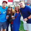 Debbie Blank | The Herald-Tribune<br /> Friday night at Freudenfest was a welcome happy hour atmosphere for many visitors, including (from left) Michael Quick, Sunman; Hanna Weber, Metamora; Taylor Riley, Cincinnati; and Batesville native Brock Ryker, St. Louis.