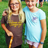 Debbie Blank | The Herald-Tribune<br /> Friends Greta Rennekamp (left), Oldenburg, and Abby Hartz, Batesville, both 10, explore the fest together.