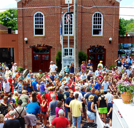 Debbie Blank | The Herald-Tribune<br /> Just after 2 p.m. Saturday, July 15, the brick Pearl Street was full of fest-goers, even though most couldn't see the exciting dachshund heats there.