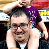 Debbie Blank | The Herald-Tribune<br /> Shane Padilla and daughter Callie, 2, browse the many selections in the food court.