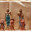 3rd row - Dasavatharam & Ganesha Dasavatharam flanked by  Saraswathy and Lakshmi given by Amma