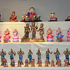 1st 3 rows. 1st row is filled with Ganesha Dolls bought by Paru's mom